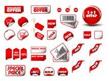 duży ceny ustalone etykietki Zdjęcia Stock