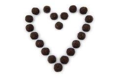 duży czekoladowy serce Obrazy Stock