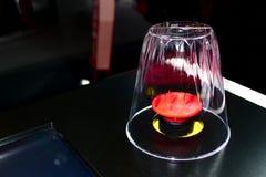 Duży czerwony guzik Zdjęcia Royalty Free