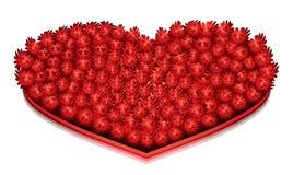 Duży Czerwony serce Zdjęcie Royalty Free