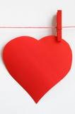 Duży czerwony serce na linii Fotografia Royalty Free
