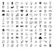 Duży doodle set, inkasowa ikona, wektor Obrazy Royalty Free