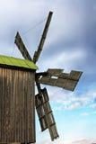 Duży drewniany wiatraczek Obraz Stock