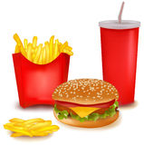 duży fasta food grupy produkty Zdjęcia Royalty Free