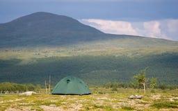 duży frontowy halny namiot Obrazy Royalty Free