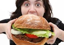 duży hamburger Zdjęcie Royalty Free