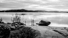 Duży Jeziorny Ladoga w republice Karelia Fotografia Stock
