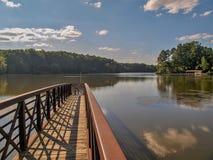 Duży jezioro przy William b Umstead stanu park obraz stock