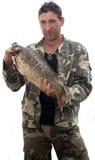 duży karpia ryba rybak Zdjęcie Stock