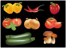 duży kolorowi grupowi dojrzali warzywa Obraz Royalty Free