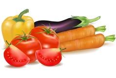 duży kolorowi grupowi warzywa Zdjęcie Stock