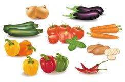duży kolorowi grupowi warzywa Zdjęcia Royalty Free