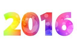 Duży kolorowy znak 2016 Obraz Stock