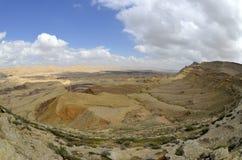 Duży krater w pustynia negew. Obraz Stock