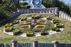 Duży Kwiecisty zegar, Timisoara Zdjęcie Royalty Free
