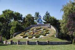 Duży Kwiecisty zegar, Timisoara Obraz Royalty Free