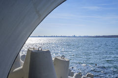 Duży miasta seascape Fotografia Stock
