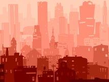 Duży miasto abstrakcjonistyczna ilustracja. Ilustracji