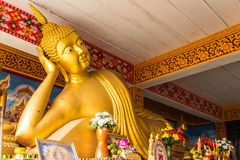 Duży Opiera Buddha w Wacie Mokkanlan, Chomthong Chiangmai Fotografia Stock