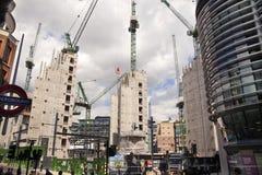 Duży plac budowy w banka anglii aria Fotografia Stock
