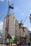 Duży plac budowy w banka anglii aria Zdjęcie Royalty Free
