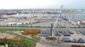 Duży portowy Petersburg, widok z lotu ptaka Zdjęcie Stock