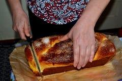 Duży puszysty wielkanoc tort Fotografia Royalty Free