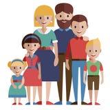 duży rodzinny portret Fotografia Royalty Free