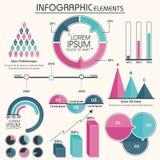 Duży set Biznesowi Infographic elementy Obrazy Stock