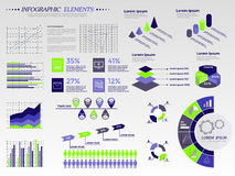 Duży set infographics Fotografia Royalty Free
