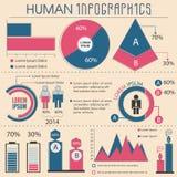 Duży set istoty ludzkiej Infographic elementy Zdjęcie Royalty Free