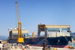 duży statek towarowy Zdjęcia Royalty Free