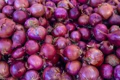 Duży stos purpurowa cebula Obrazy Stock