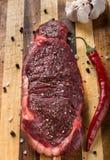 Duży surowy stek zdjęcie royalty free
