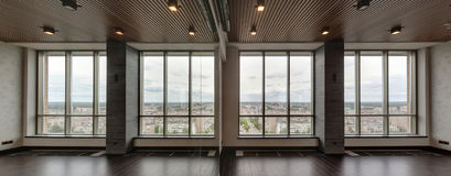 duży szklany okno Obrazy Stock