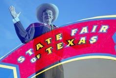 Duży Tex i stanu jarmark Teksas podpisuje Zdjęcie Royalty Free