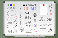 Duży whiteboard set Obrazy Royalty Free