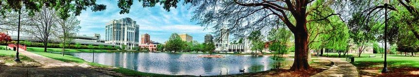 Duży wiosna park obrazy stock