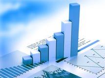 duży wykresu rynku liczb zapas Zdjęcie Royalty Free