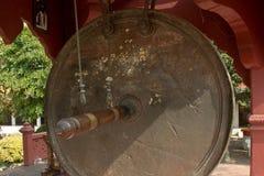 Duży zawieszony gong w Thailand Obraz Royalty Free