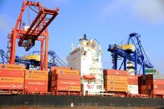 Duży zbiornika statek RIO DE JANEIRO EKSPRESOWY w Walencja obraz royalty free