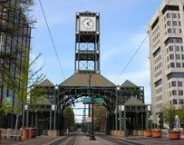 Duży zegar Na centrum handlowym Fotografia Stock