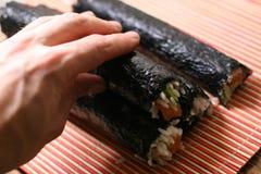 duży zwój sushi Obrazy Stock