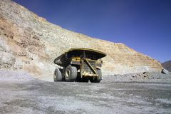 duża ciężarówka górnictwa Obraz Royalty Free