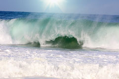 Duża fala z morze pianą Obrazy Stock