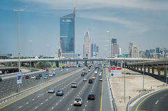 Duabi city highway Royalty Free Stock Image