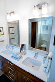 Dual Bathroom Vanity and Mirrors Stock Photos