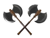 Dual battle axes Royalty Free Stock Image