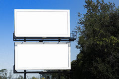 Dual Billboards, Blank Royalty Free Stock Images