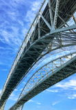 Dual Bridges Over to Canada Stock Photography